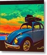Classic Surf Rod Metal Print