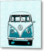 Vw Van Graphic Artwork Metal Print