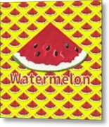 W Is For Watermelon Metal Print