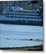 Wa State Ferry In Manchester Metal Print