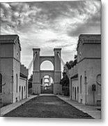Waco Historical Suspension Bridge Metal Print