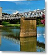 Waco Suspension Bridge 2 Metal Print