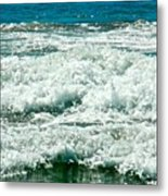 Wading For A Sign Metal Print