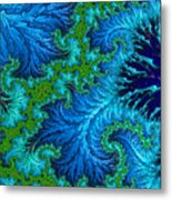 Fractal Art - Wading In The Deep Metal Print