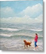 Wading With Willy Metal Print