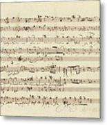Wagner, Richard Autograph Working Drafts For Act I Of Der Fliegende Hollander Metal Print