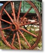 Wagon And Wheel Metal Print