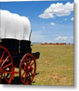 Wagon At Old Fort Union Metal Print