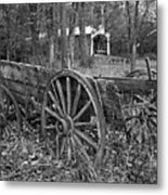 Wagon In The Woods Metal Print