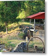 Wagon Shed Metal Print by Suzanne Gaff