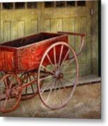 Wagon - That Old Red Wagon  Metal Print