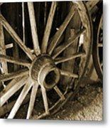 Wagon Wheels 3 Metal Print