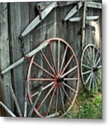 Wagon Wheels Metal Print