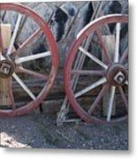 Wagon Wheels. Metal Print