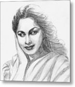Waheeda Rehman Bollywood Actress Metal Print