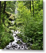 Wahkeena Falls  In   Oregon Metal Print