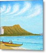 Waikiki Wonder Metal Print