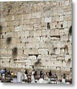 Wailing Wall In Jerusalem Metal Print