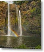 Wailua Falls Rainbow Metal Print