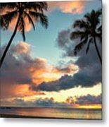 Waimea Beach Sunset 3 - Oahu Hawaii Metal Print