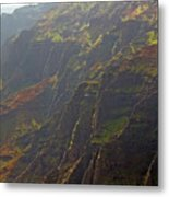 Waimea Canyon On A Misty Day In Kauai Metal Print