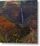Waimea Canyon Waterfall Metal Print