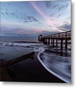 Waimea Pier Metal Print