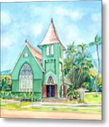 Wai'oli Hui'ia Church Metal Print