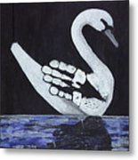 Wait A Second Swansong Metal Print