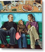 Waiting At The Diner Metal Print