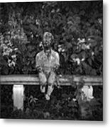 Waiting By The Garden Metal Print