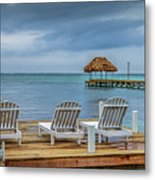 Waiting By The Sea Metal Print
