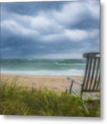 Waiting For Sunrise On The Dunes Metal Print