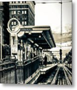 Waiting For The Blue Line Metal Print