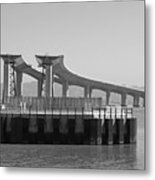 Waiting For The Bridge Metal Print