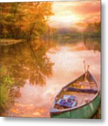 Waiting For The Dawn In Peach Metal Print