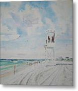 Waiting For The Lifeguard Metal Print