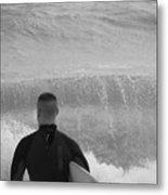 Waiting For The Perfect Wave Metal Print