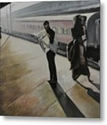 Waiting For The Train Metal Print
