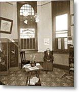 Waiting Room Of Dr. C. H. Pearce, D.d.s. Dentist, Watsonville,  Metal Print
