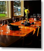 Waiting Table Metal Print by Lawrence Christopher