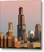 Wake Up Chicago Metal Print