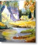 Wales Country House Metal Print