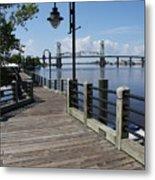 Walk Along The Fear River - Wilmington Metal Print