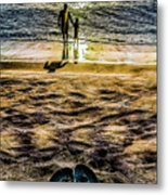 Walk By The Sea Metal Print