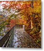 Walk Into Autumn Metal Print