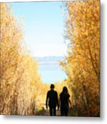 Walk To Mono Lake Metal Print