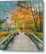 Walk To The Lake In Watercolors Metal Print