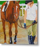 Walking Back To The Stable Metal Print