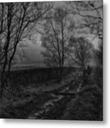 Walking In A Muddy Lane Metal Print